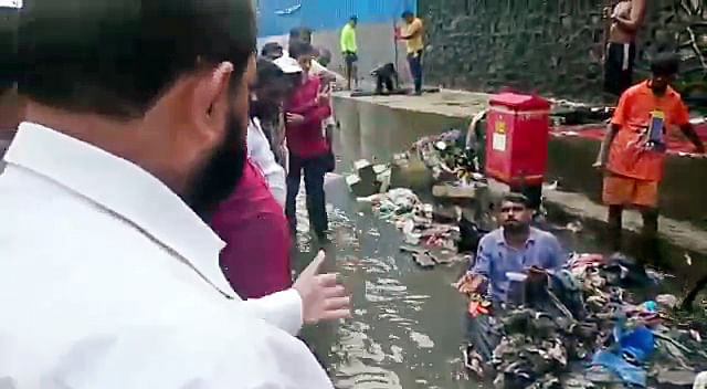 Mumbai: Shiv Sena MLA punishes contractor for incomplete nullah cleaning work
