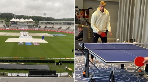 WTC Final Ind vs NZ: Jamieson plays TT to kill time as wet weather delays start on Day 4