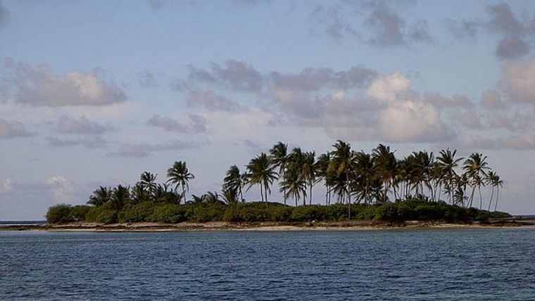 Lakshadweep residents stage 'coconut leaves and palm' protest