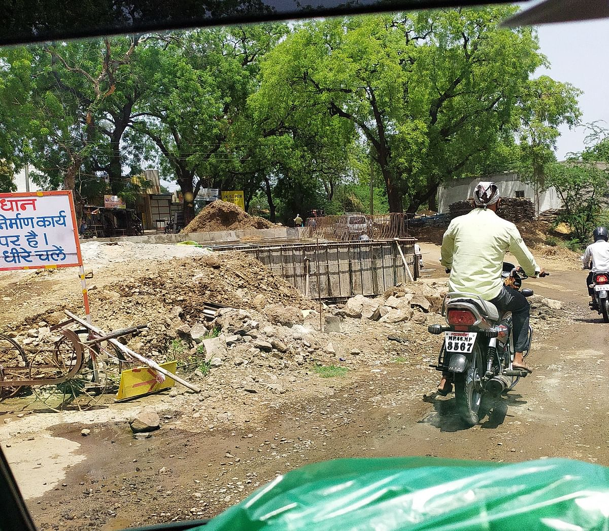 A view of culvert construction in Rajpur tehsil