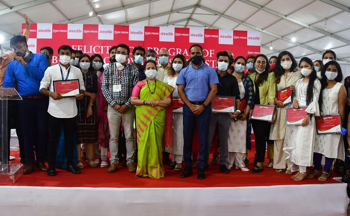 At Free Press Group event, Mumbai Mayor Kishori Pednekar felicitates entire staff at BKC jumbo COVID centre