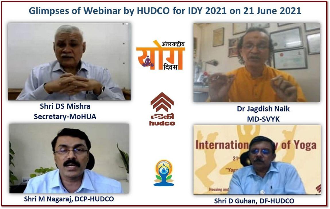 HUDCO observes International Yoga Day