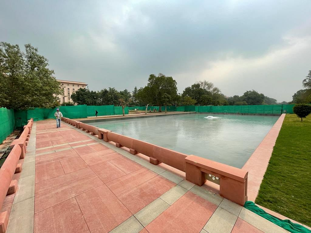 'Central Vista work is on schedule': Union Minister Hardeep Singh Puri shares photos of revamp