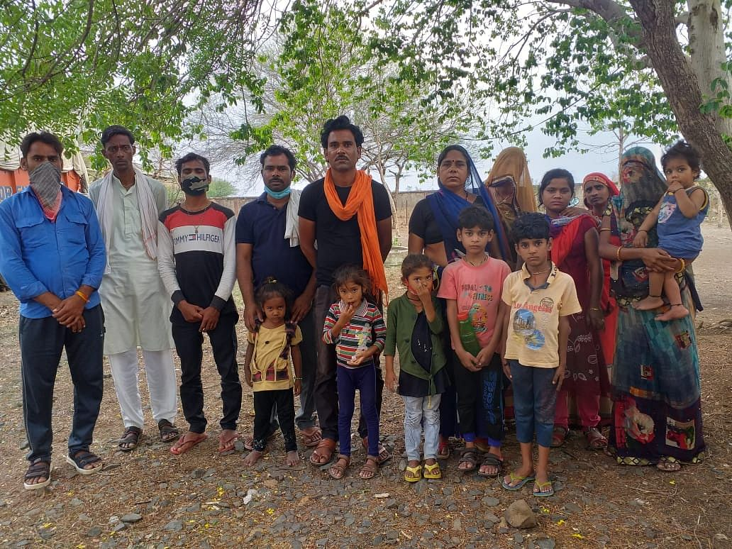 Ousted villagers living under open sky on outskirts of Ganeshpura village