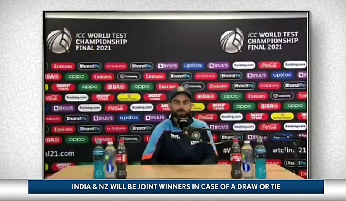 'Virat ko bottle pasand hai': Twitter disappointed with Virat for not removing Coca Cola bottles during Press Conference