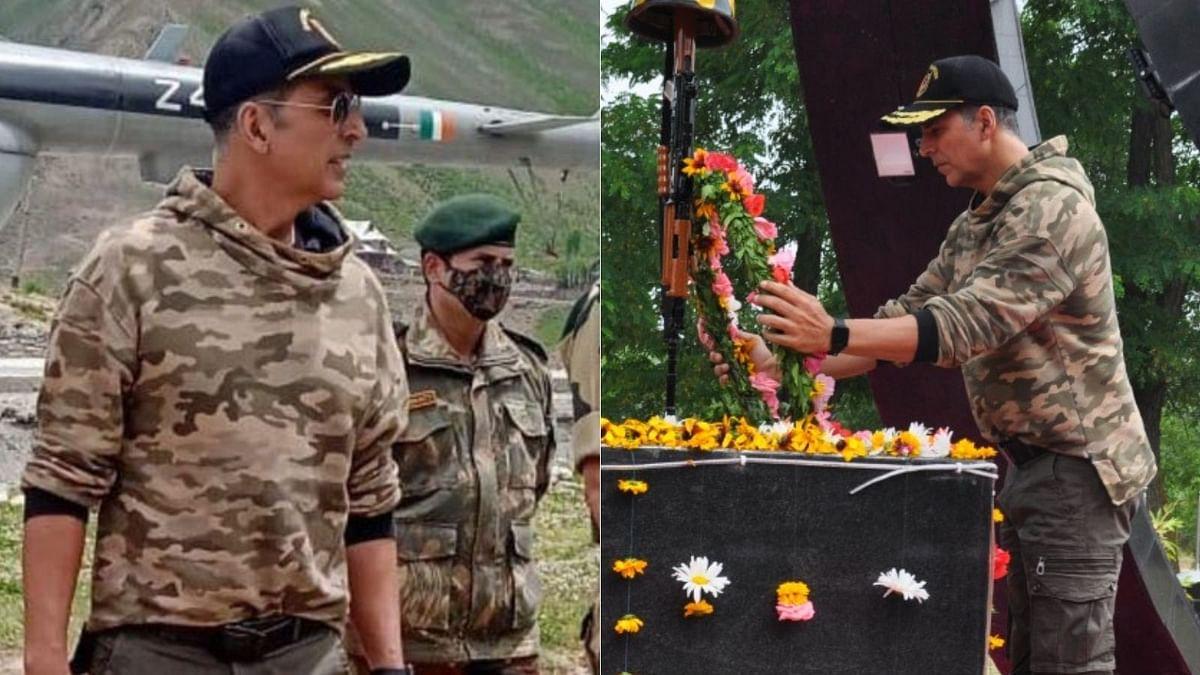 Watch: Akshay Kumar meets BSF jawans guarding the LoC, pays homage to fallen braves