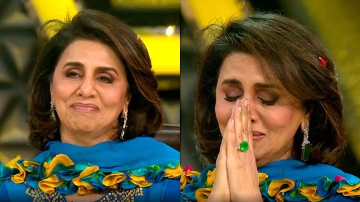 Watch: Neetu Kapoor breaks down after 'Super Dancer 4' contestants pay tribute to Rishi Kapoor