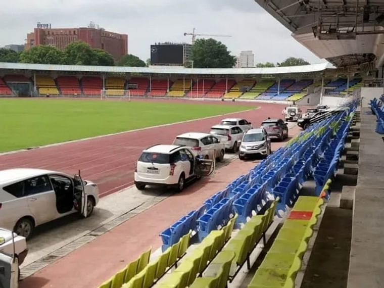 Maharashtra: Row erupts between MVA govt and BJP after sports track in Pune used as 'parking lot'