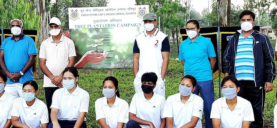 Group Centre, CRPF, Langjing, Imphal conducts 2nd phase mass plantation drive