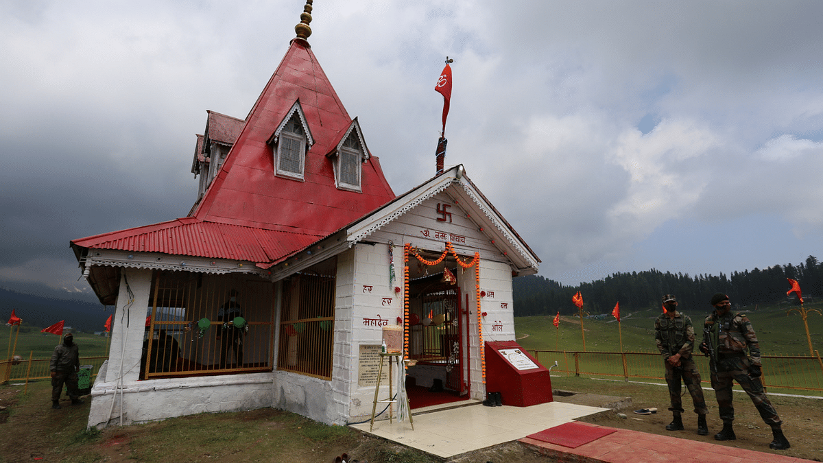 Jammu & Kashmir: Gulmarg army battalion and locals restore 100-year-old Shiv temple; see pics