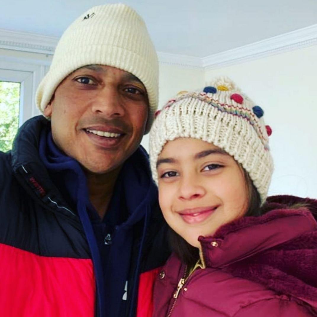 Mahesh Bhupati and daughter Saira