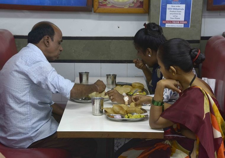 People at Malad's famous MM Mithaiwala