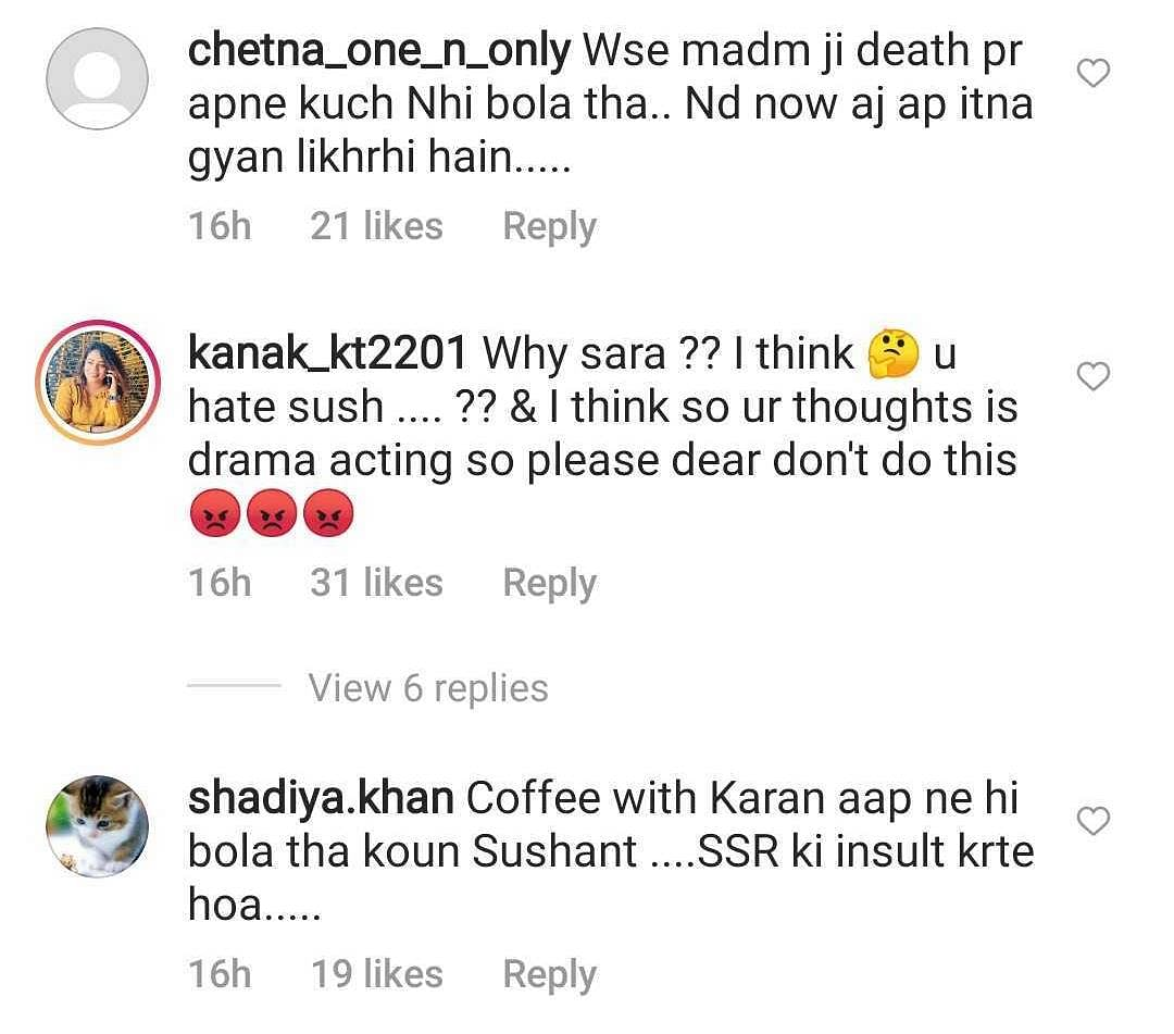 'Drama bandh kar': Sara Ali Khan trolled for sharing a post on Sushant Singh Rajput's death anniversary
