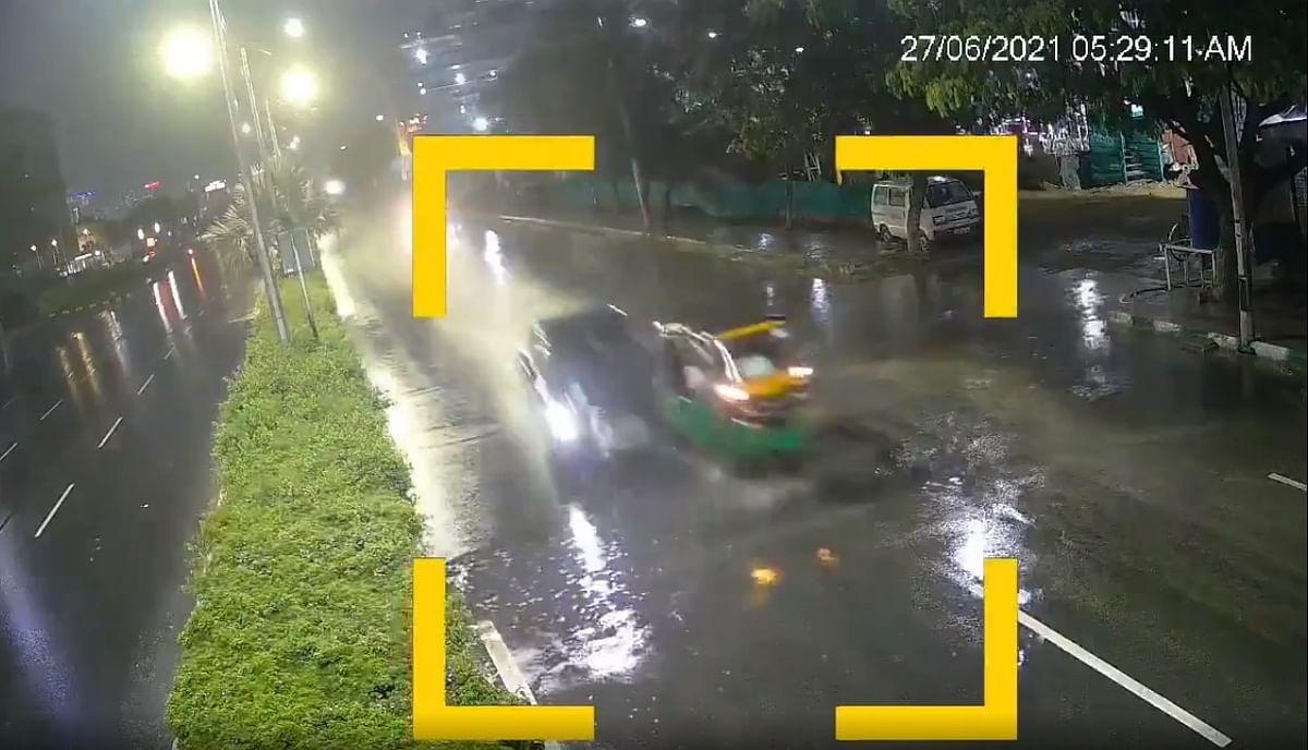 Watch video: Speeding car rams into auto-rickshaw in Hyderabad, 1 killed