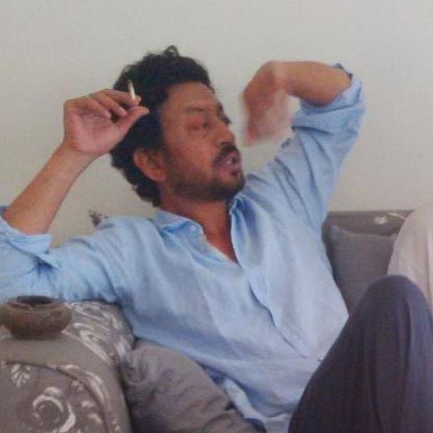 Netizen asks if Irrfan Khan is holding a 'joint' in this picture; son Babil gives a befitting reply