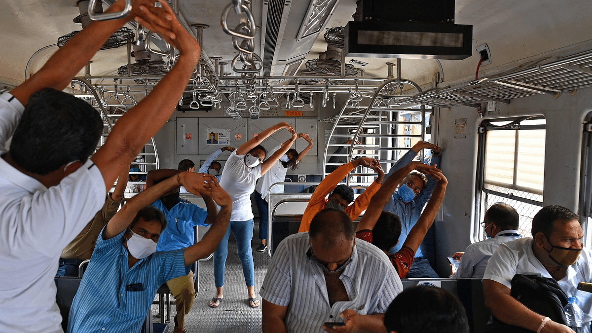 In Photos: From local trains to Kanheri caves, how Mumbai celebrated International Yoga Day 2021