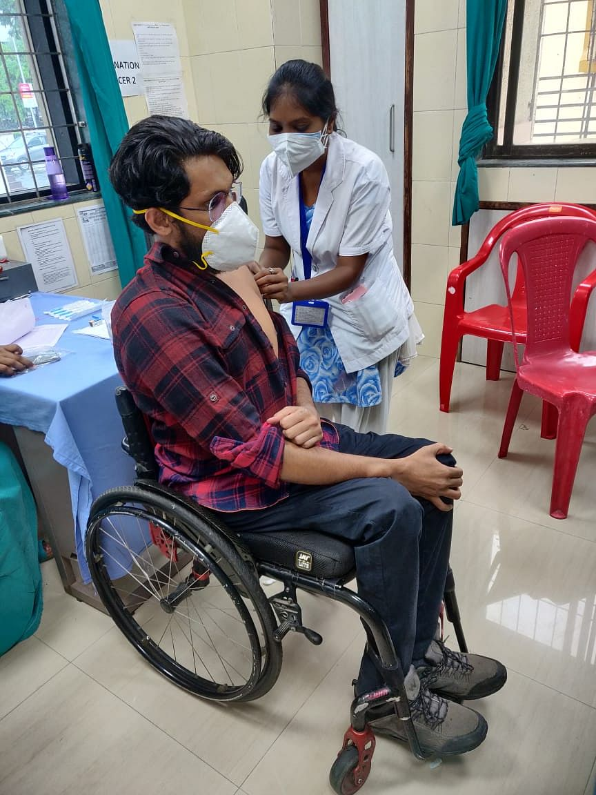 Navi Mumbai: 186 persons with disabilities turn out at special vaccination session; see pics
