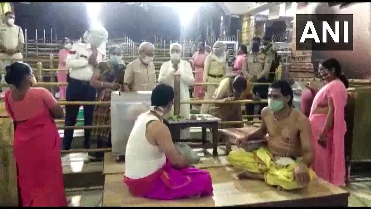 The Mahakaleshwar temple at Ujjain reopened for devotees on Monday, June 28, 2021,amid the Covid-19 lockdown.