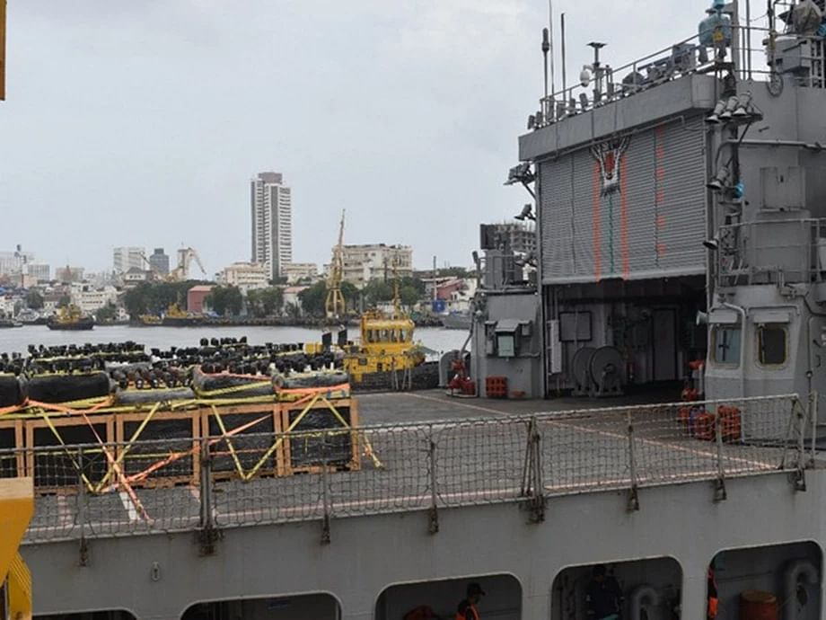 COVID-19: Indian Navy ship carrying medical aid from Kuwait, Qatar reaches Mumbai Port