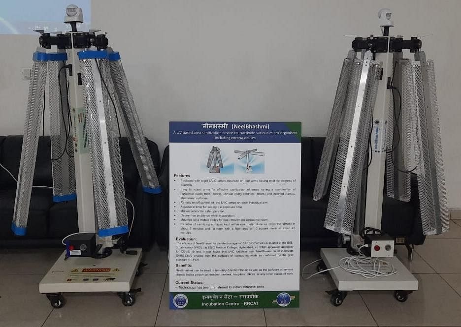 Indore: RRCAT develops hands-free UV disinfectant to kill coronavirus, device placed at the airport