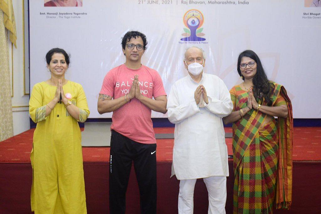 Photos: Maharashtra Governor, politicians stress on yoga for good physical, mental health