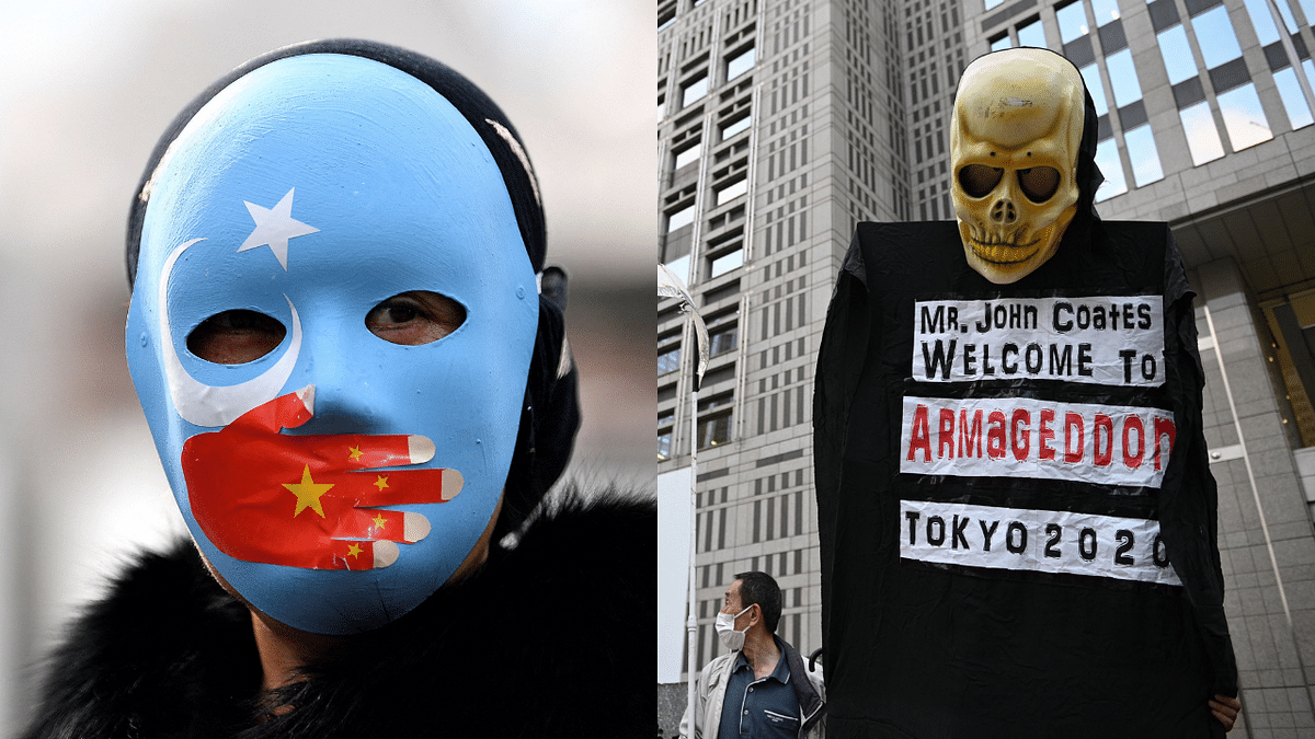In Photos: On International Olympics Day, anti-Olympics protests carried out for Uyghur, Hong Kong, Tibet rights