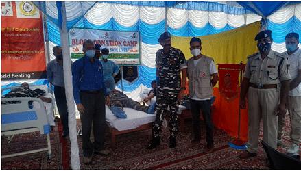 CRPF bravehearts donate blood in Srinagar