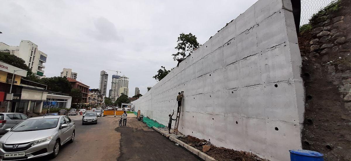 Mumbai: In 6 months, retaining wall at Hughes Rd ready