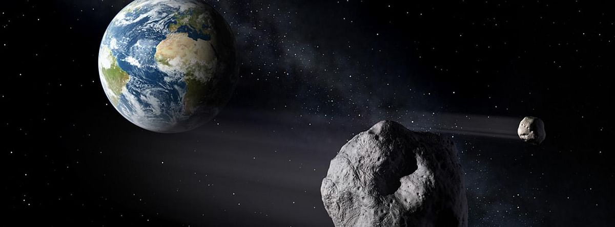 Asteroids passing Earth.