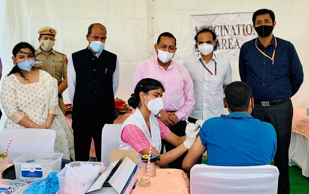 Department of Pension & Pensioners' Welfare organises vaccination camp to protect their staff and officers