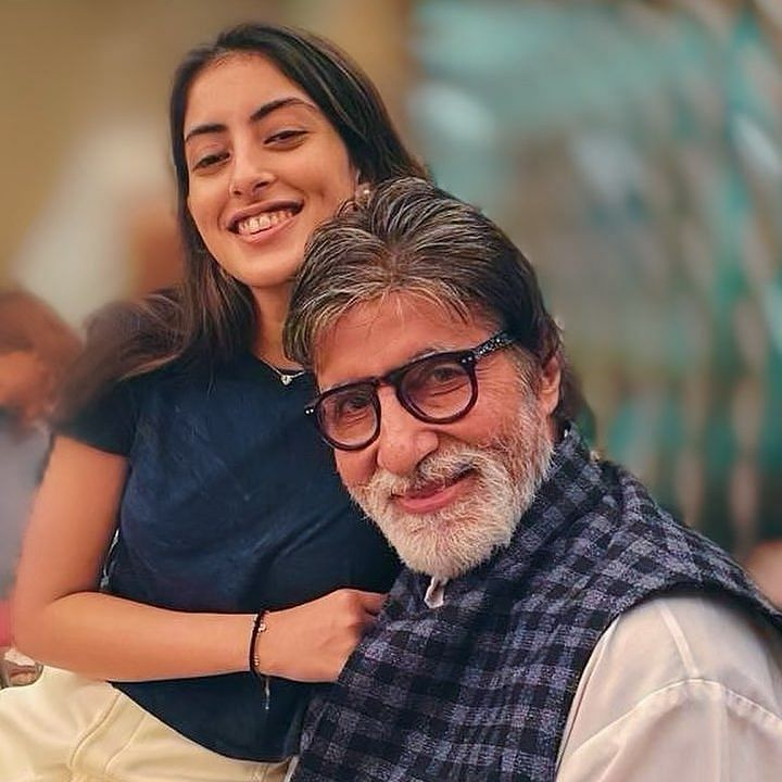 Amitabh Bachchan shares picture of his adorable co-star; granddaughter Navya reacts