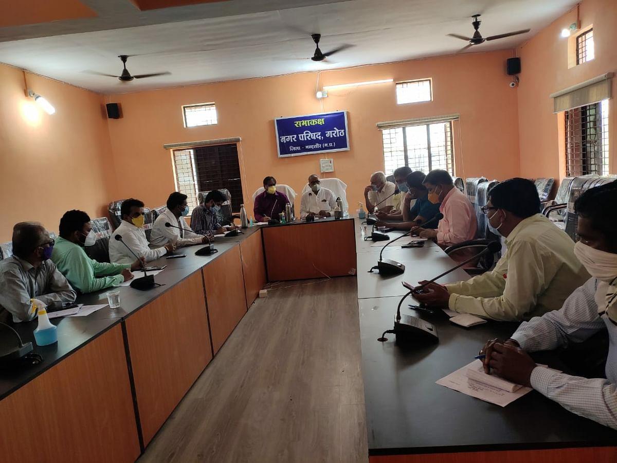 Madhya Pradesh: Block Level Crisis Management Committee in Garoth for regular feedback from corona patients