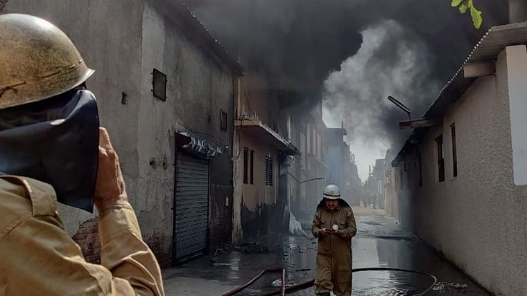 Six rescued, 4 still missing after massive fire breaks out in Delhi's Udyog Nagar