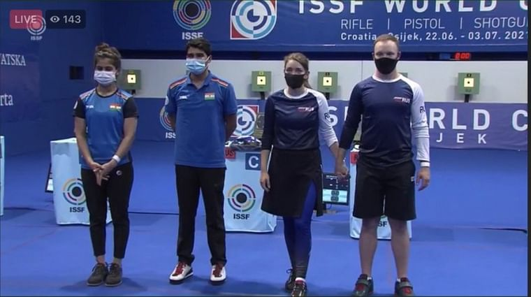 Shooting World Cup: Manu Bhaker-Saurabh Chaudhary clinch silver medal in 10m air pistol mixed team event