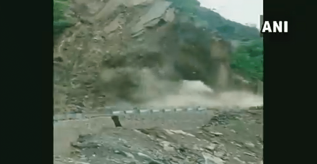 Watch: Landslide prompts closure of National Highway in Uttarakhand; low lying areas submerged amid heavy rain