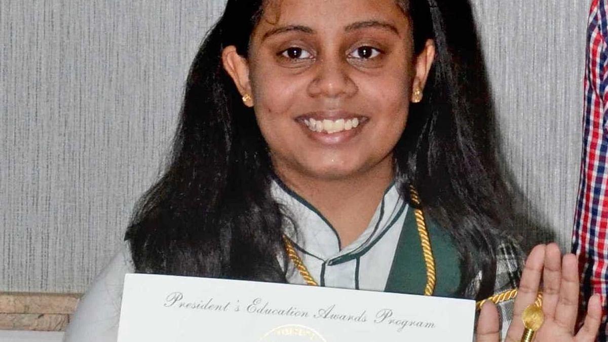 Bhopal: Riya Jain feted with the US President's Education Award