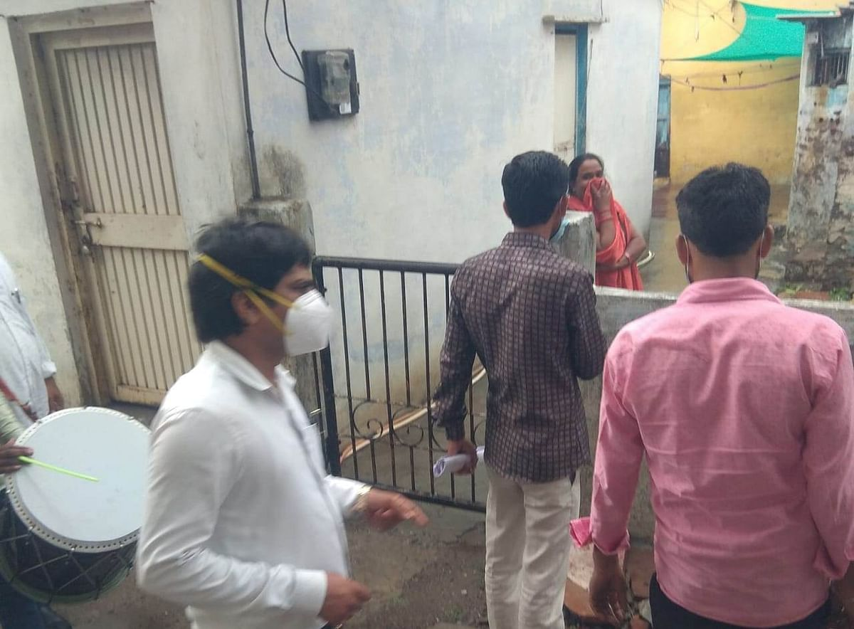 Mhow: Dholaks played outside houses of people who avoid vaccination