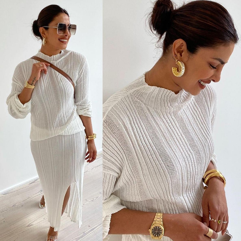 Priyanka Chopra celebrates Pride Month in all-white knitwear that costs more than Rs 50,000