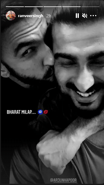 Ranveer Singh returns to Instagram after 2 months, shares epic 'Bharat Milap' photo with Arjun Kapoor