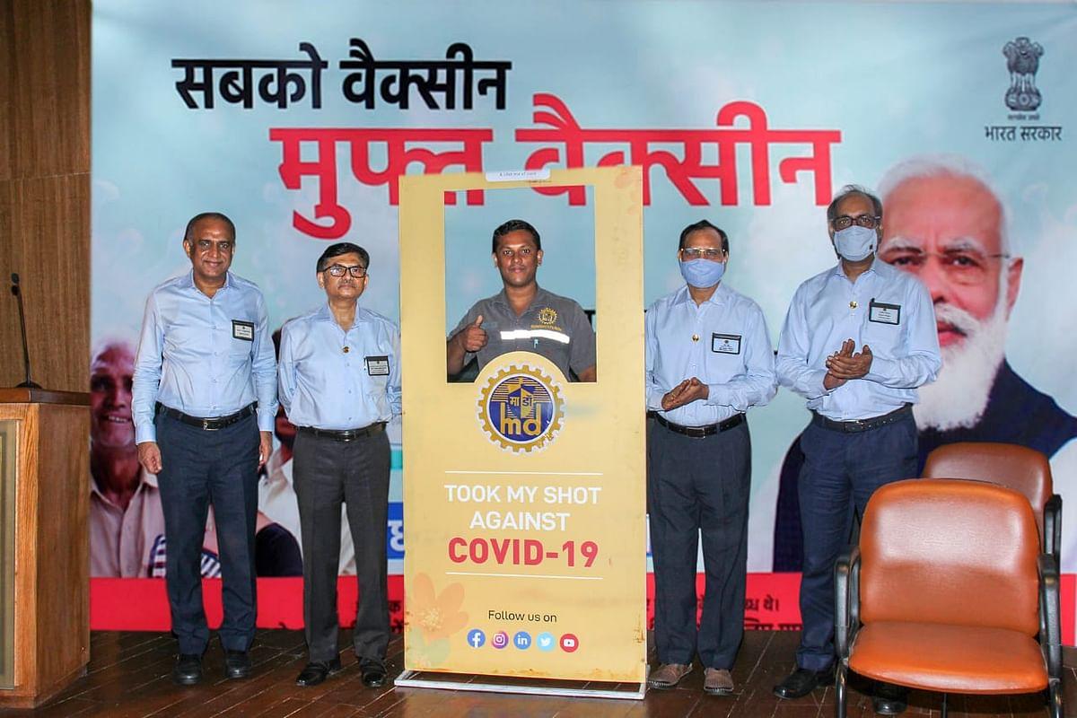 Mazagon Dock Shipbuilders organises Covid vaccination drive at its premises