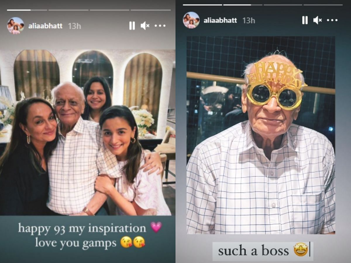 In Pics: Alia Bhatt celebrates grandfather's 93rd birthday with beau Ranbir, Neetu Kapoor