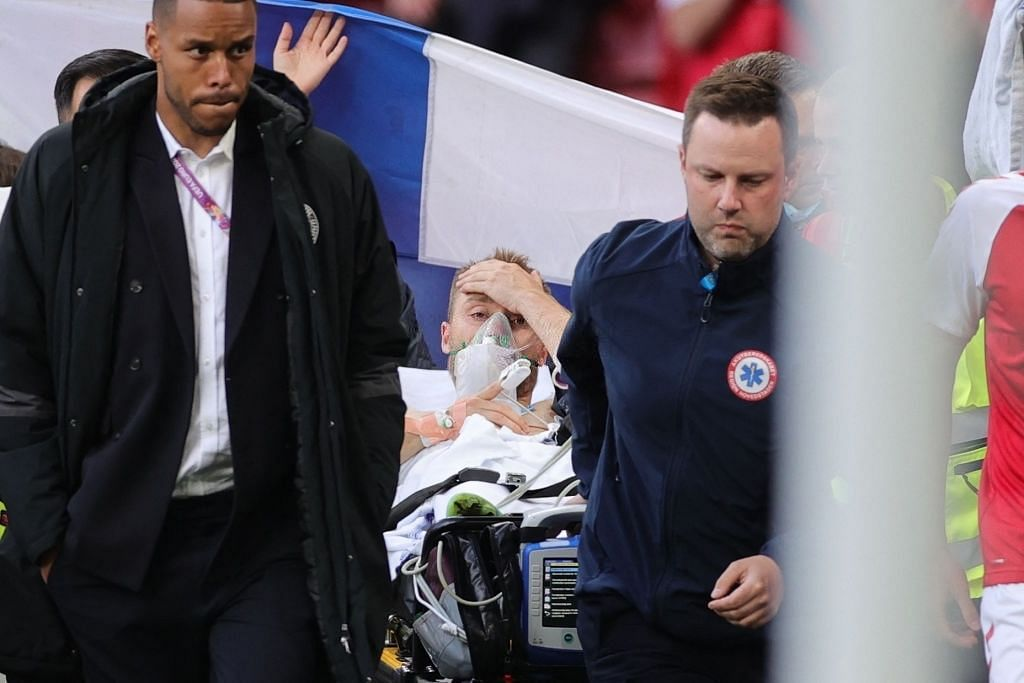 Good news: Christian Eriksen was conscious while medics took him away on a stretcher