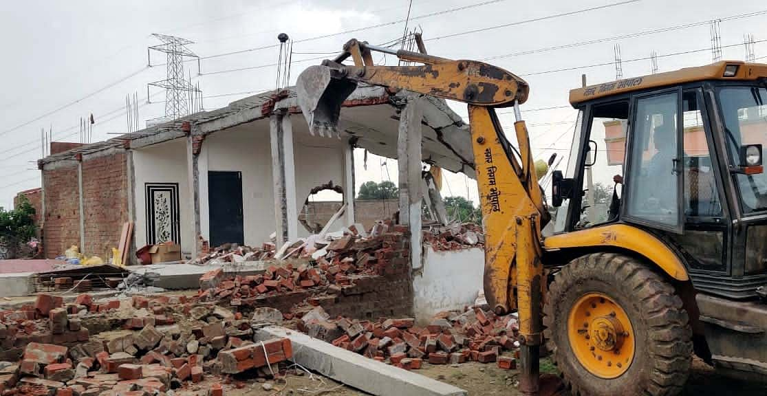 These duplexes were being constructed at government land