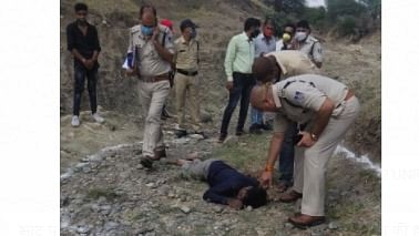 Police officers at the crime scene in Bhatpachalana (File Photo)   FP PHOTO