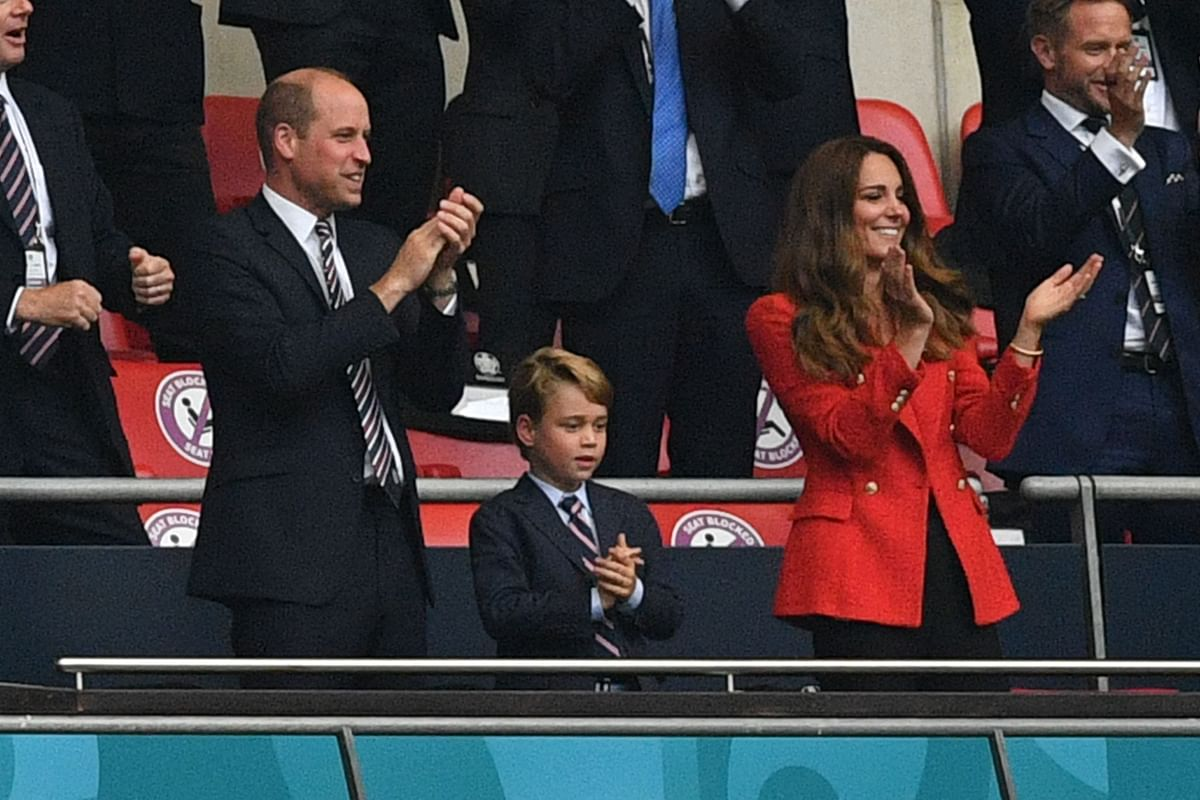 Prince William, wife Kate and 7-year-old Prince George