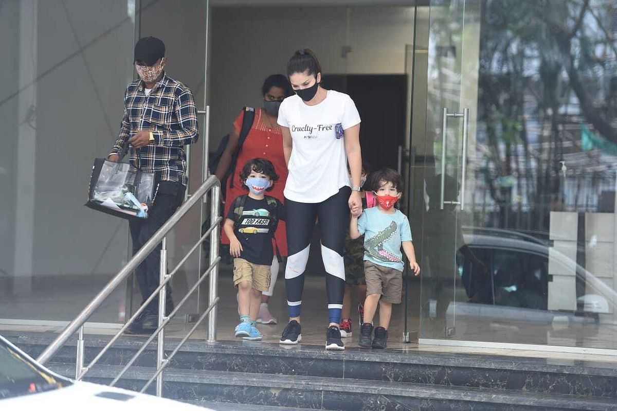 Sunny Leone with her kids