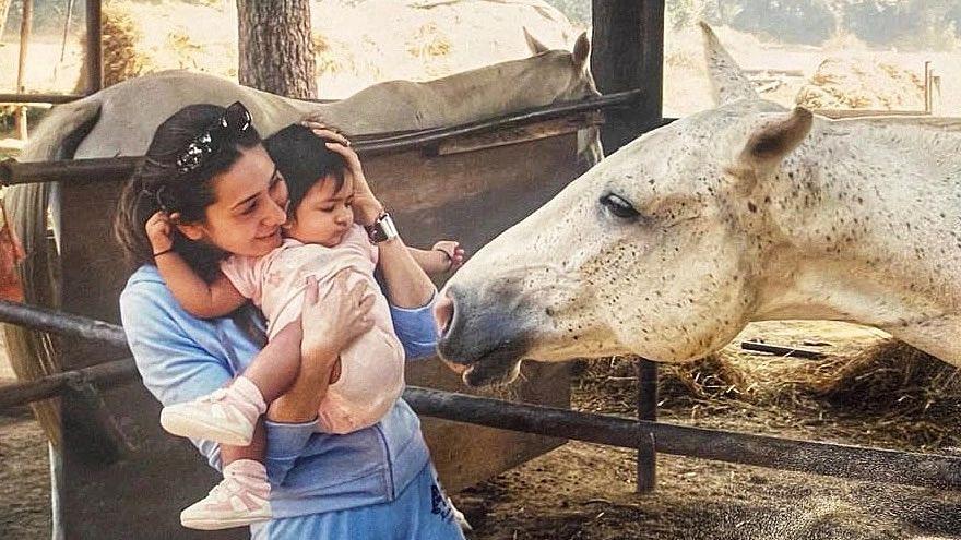 Happy Birthday Karisma Kapoor: Doting mommy moments of the actress with kids Samaira and Kiaan