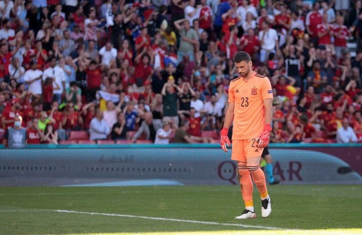 Spain's goalkeeper Unai Simon