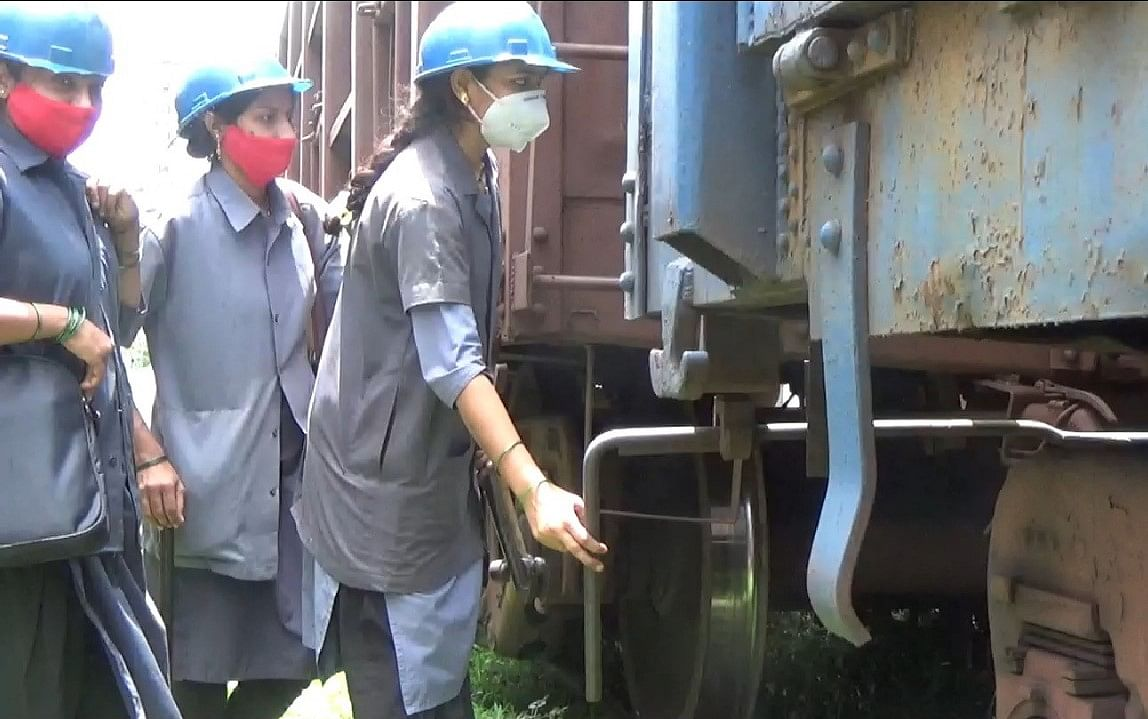 First time on Central Railway: Intensive Examination of freight train by Women team at Kalyan Goods Yard