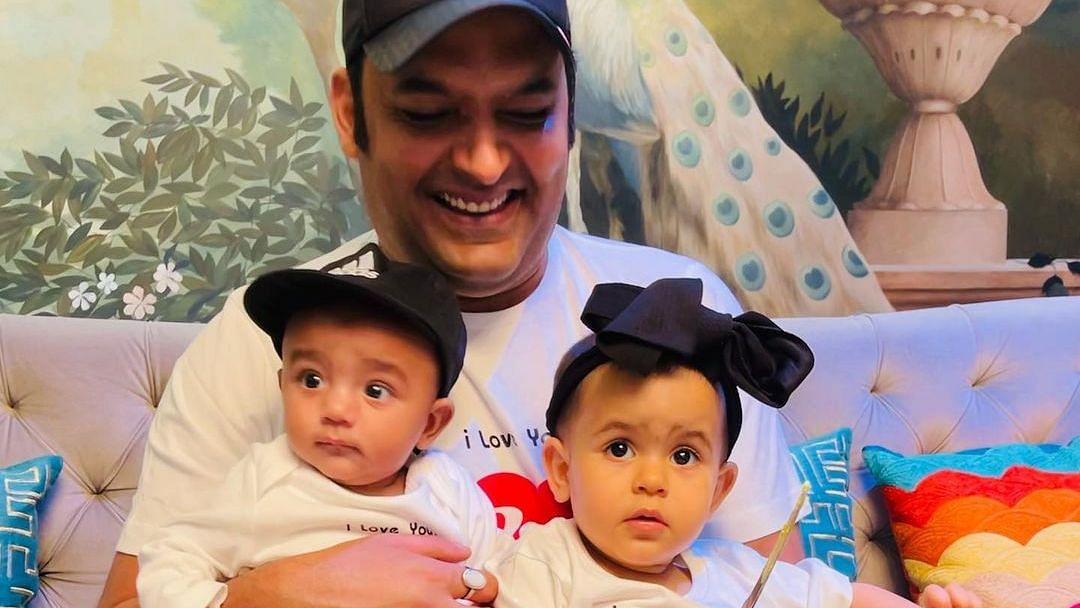 Comedian Kapil Sharma shares FIRST GLIMPSE of son Trishaan with daughter Anyara